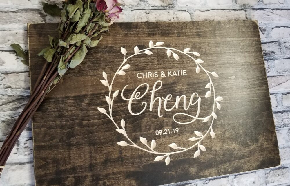 Carved Wedding Guest Book Alternative, Wood Guestbook, Personalized Sign, Gift, Rustic Country Guestbook