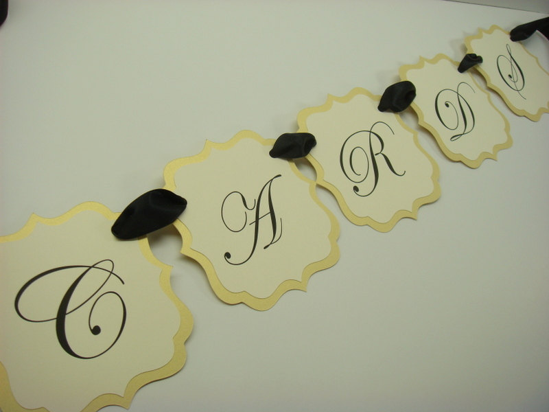 Cards Wedding Banner Elegant Vintage Label Design, Reception Decor, All Of My Colors Available