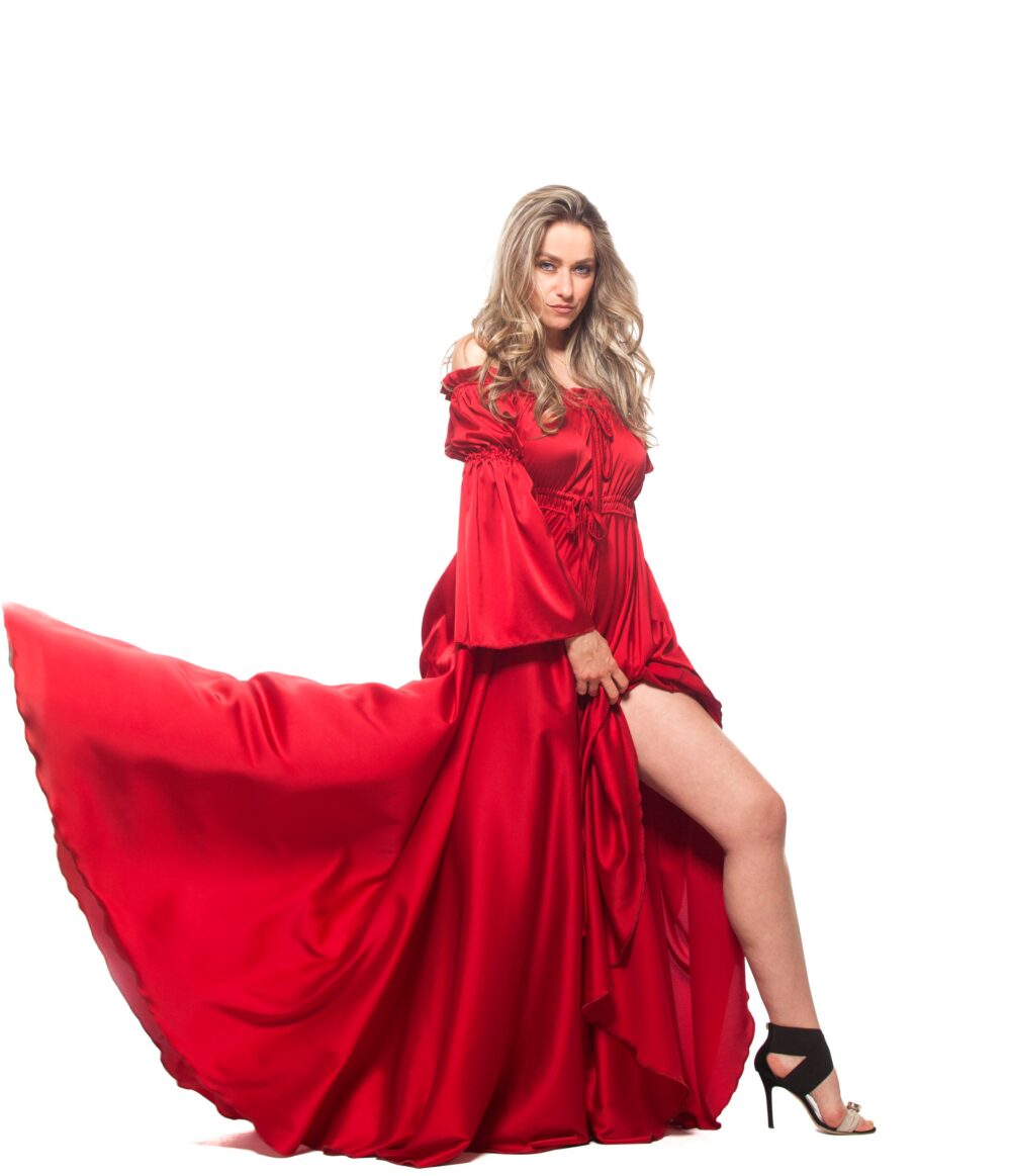 Red Dress, Maxi Formal Plus Size Clothing, Gown, Long Bohemian Wedding Victorian Loose