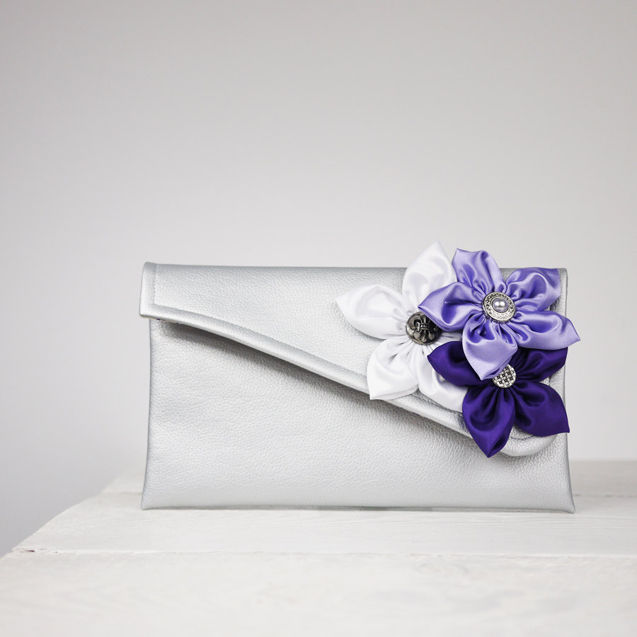 Bridesmaid Gift | Purple Clutch Bridesmaid Purse Any Color You Need