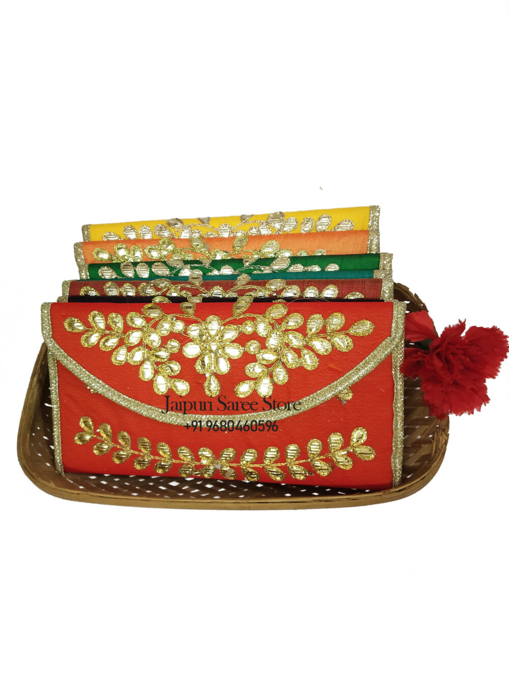 50 Pcs Handmade Women's Clutch Purse Wallet Wedding Favor Bridesmaids Return Gifts For Guests Sangeet Nikah Presents Free Shipping