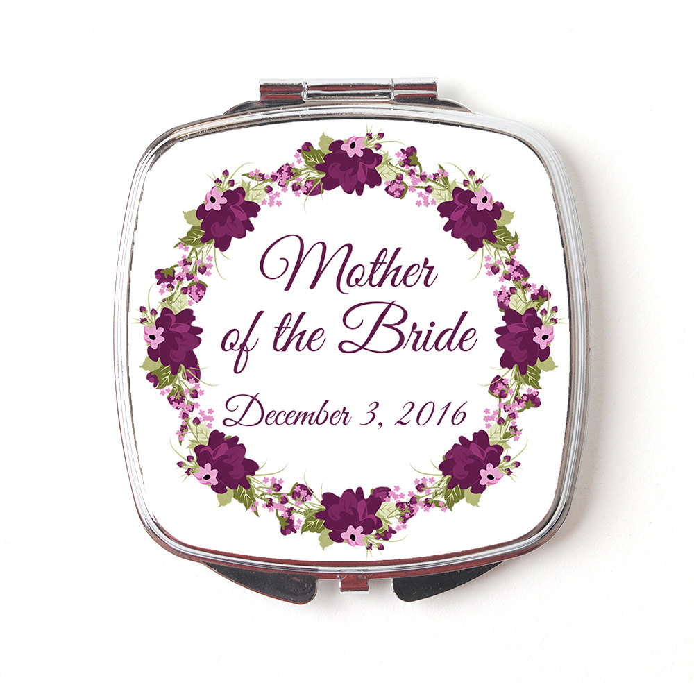 Mother Of The Bride Gift - Compact Mirror Wedding Makeup