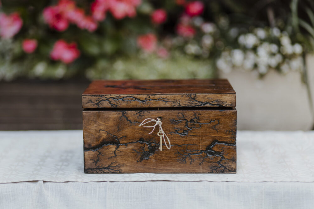 Wedding Box House/Card Wedding Holder With Lock Rustic Card Box Slot