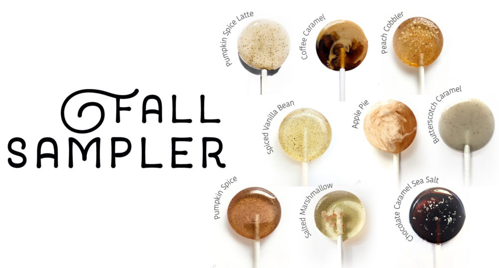 100 Wedding Favors // Fall Theme Lollipops For Guest Bulk