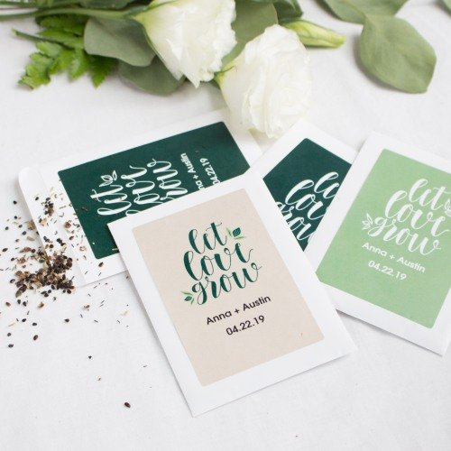 Personalized Wedding Favor Seed Packets