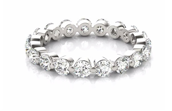 2 Carat Eternity Band, Ring, Diamond Womens Ring in White Gold