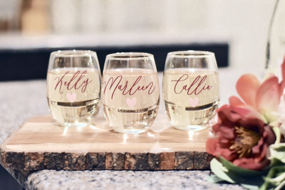 Custom Wine Glass, Bridesmaid Proposal, Bridal Shower Gift, Shower Favors, Gifts, Wedding Personalized Gifts