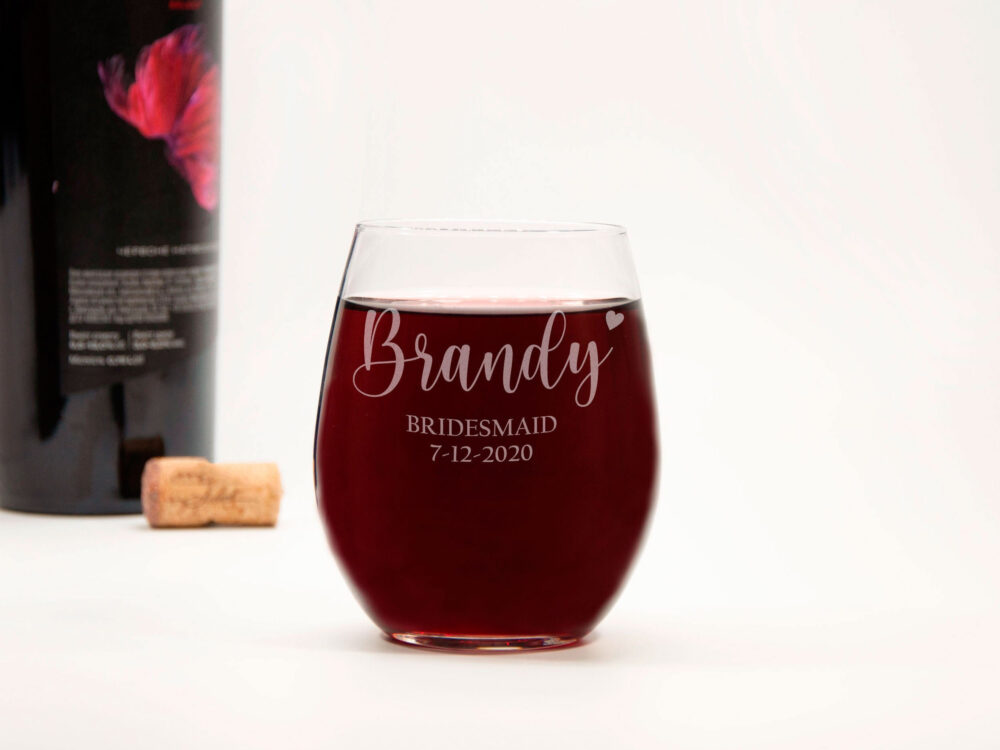 Bridesmaid Gift Personalized Wine Glass Bridal Party Custom Engagement For Her Shower Ideas