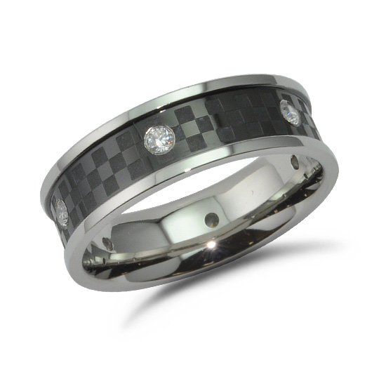 Stainless Steel Ring, Carbon Fiber Wedding Band, Promise Ring For Him, Band