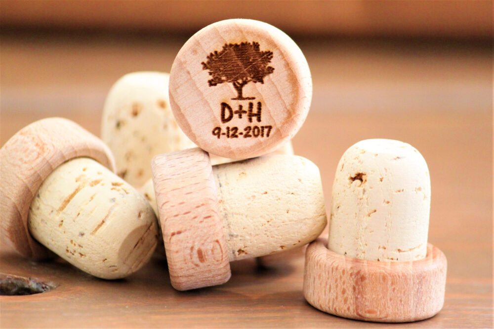 Personalized Wine Stoppers, Wedding Themed Favors, Favors
