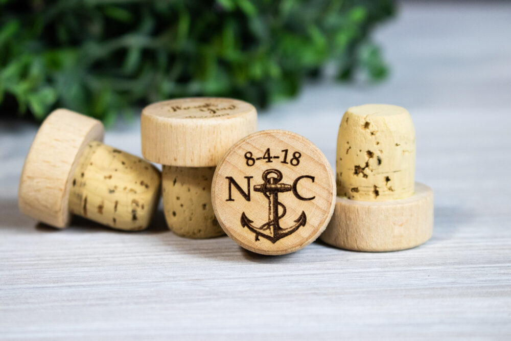 Personalized Wine Stoppers, Wedding Themed Favors, Bottle Stoppers