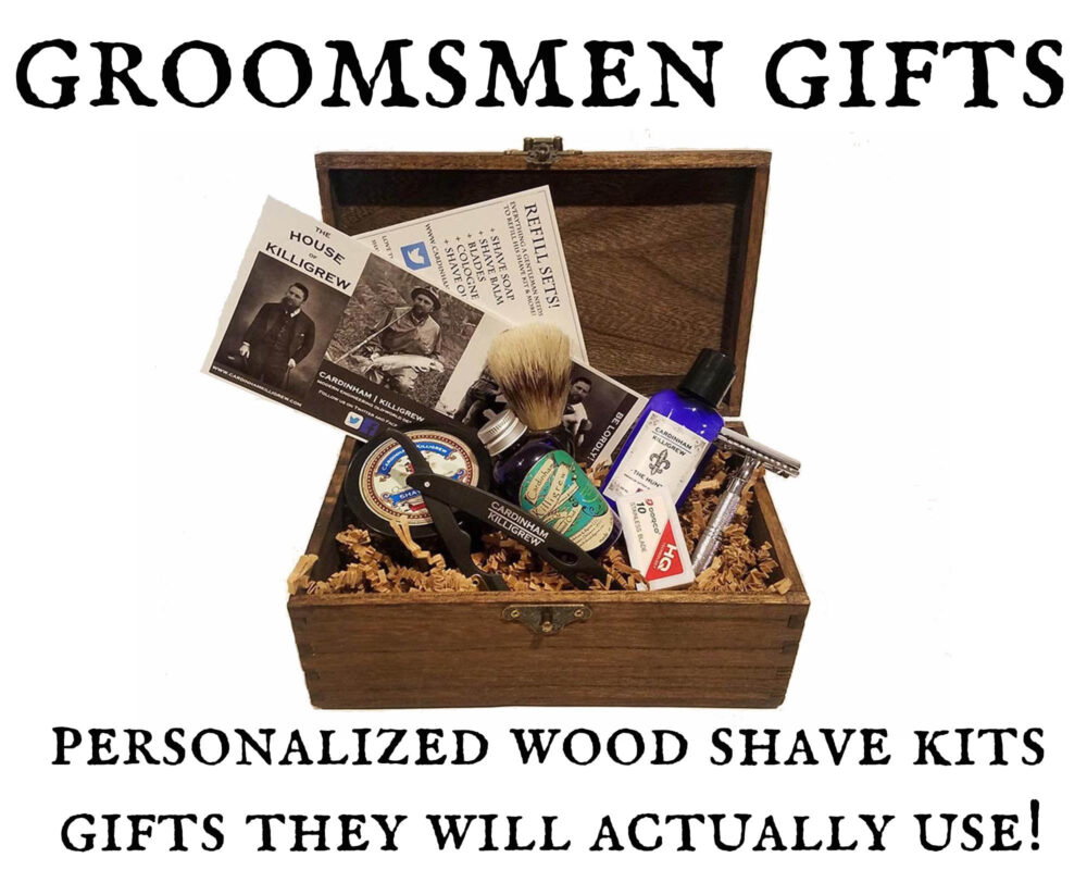 8 Wedding Groomsmen Favor Gifts Fall Wedding Vintage Shave Kits - Groomsman Gifts Ideas Fall Party Gift Men