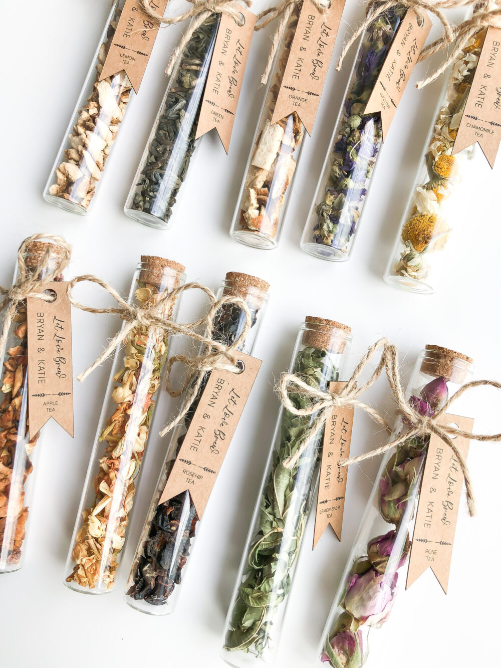 Wedding Tea Favors For Guests, Bulk Test Tube, Rustic Wedding Favor, Personalized Favors, Custom Bonbonniere, Showers Thank You Gift