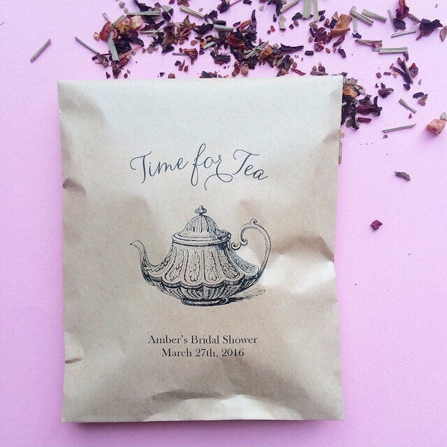 Time For Tea Tea Favors - Bridal Shower Bags Only
