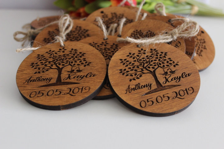 Wedding Favors For Guests in Bulk, Personalized Thank You Favors, Gift Tags You, Christmas Ornaments Favors