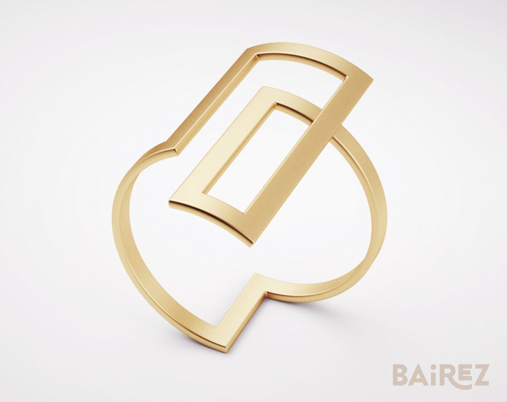 Square Gold Ring, Infinity Band, Rings, Bands, Artistic