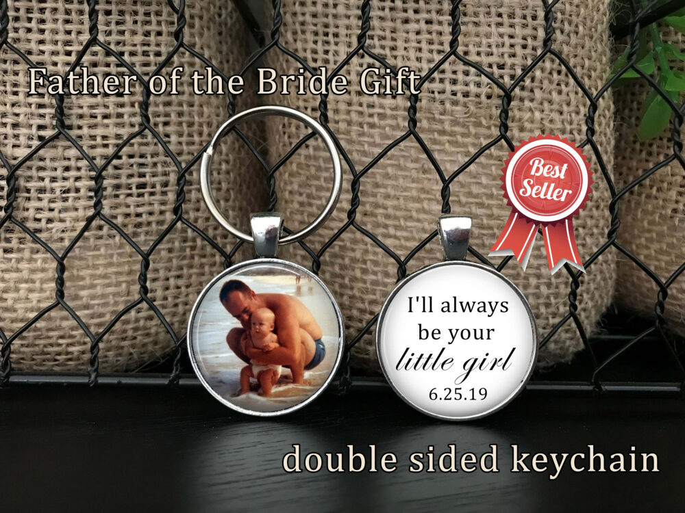 "Father Of The Bride Gift - Mother Bride Gift ""I'll Always Be Your Little Girl"" Father Bride From Bride, Daughter"