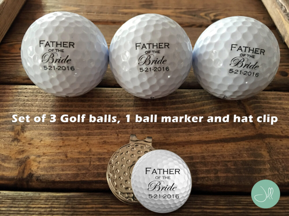 Father Of The Bride, Golf Balls, Ball Marker, Gift Set - For Dad Wedding Bride's Father, Father Bride Gift, Wedding