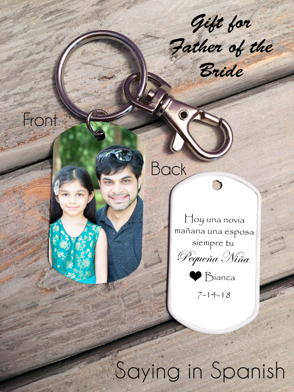 Father Of The Bride Gift - Regalo Del Padre De La Novia , Father Bride Keychain Gift Idea