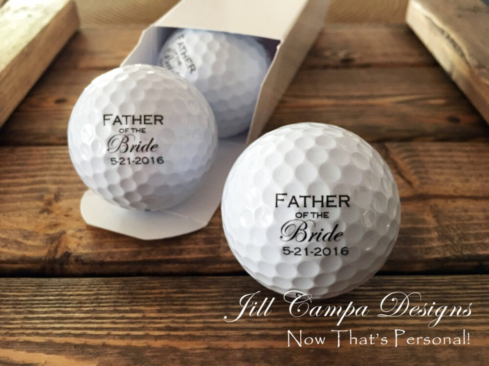 Father Of The Bride, Father Bride Gift, Bride Golf Balls, Personalized Set 3