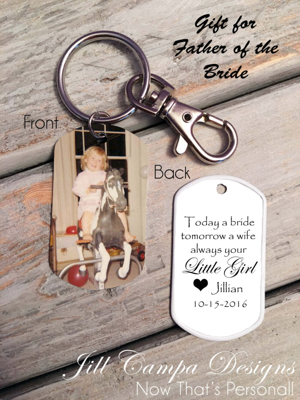Father Of The Bride Gift - Father Bride, Gift From Bride To Dad Keychain Idea