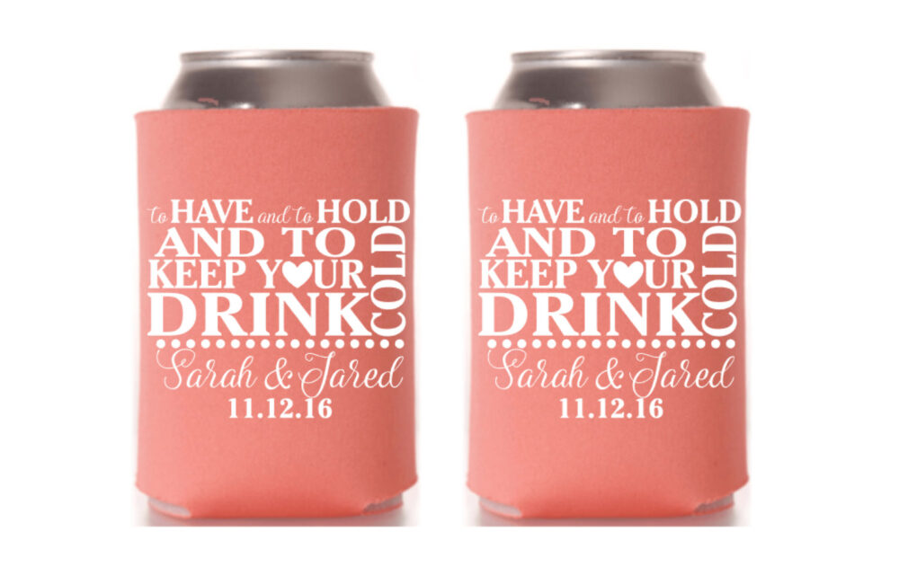Can Coolers Wedding, Personalized Coolers, Beer Sleeve, Wedding Favors, Cooler, Summer Gift
