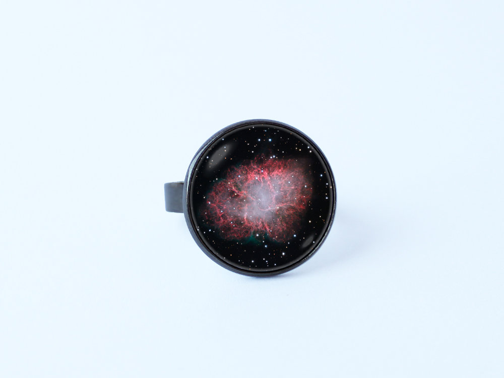 Gift For Daughter Rings Nebula Crab Christmas Gift Space Jewelry Ring Universe Cosmos Galaxy Astronomy Girls