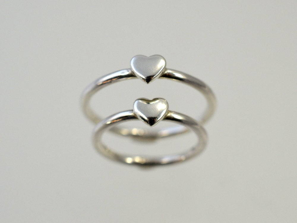 Mother Daughter Ring, Mom & Baby Ring - Shower Gift Kids Set, Sisters Jewelry, Gifts, Sterling Silver