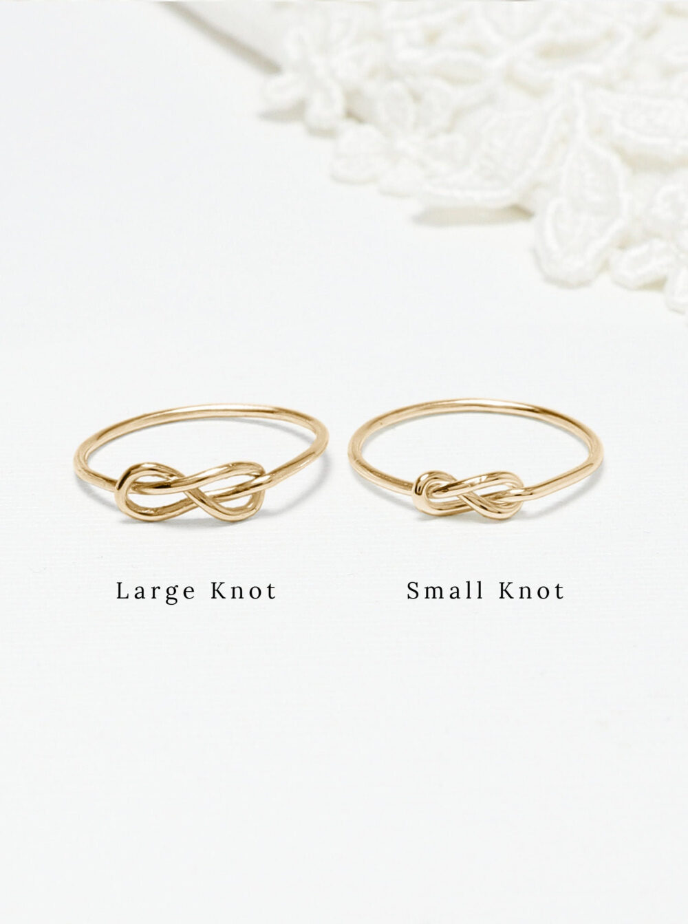 Tiny Thin Gold Infinity Knot Ring, Dainty Promise Love Sister Mother Daughter Rings, Delicate Minimalist 14K Gift | Unity Rings