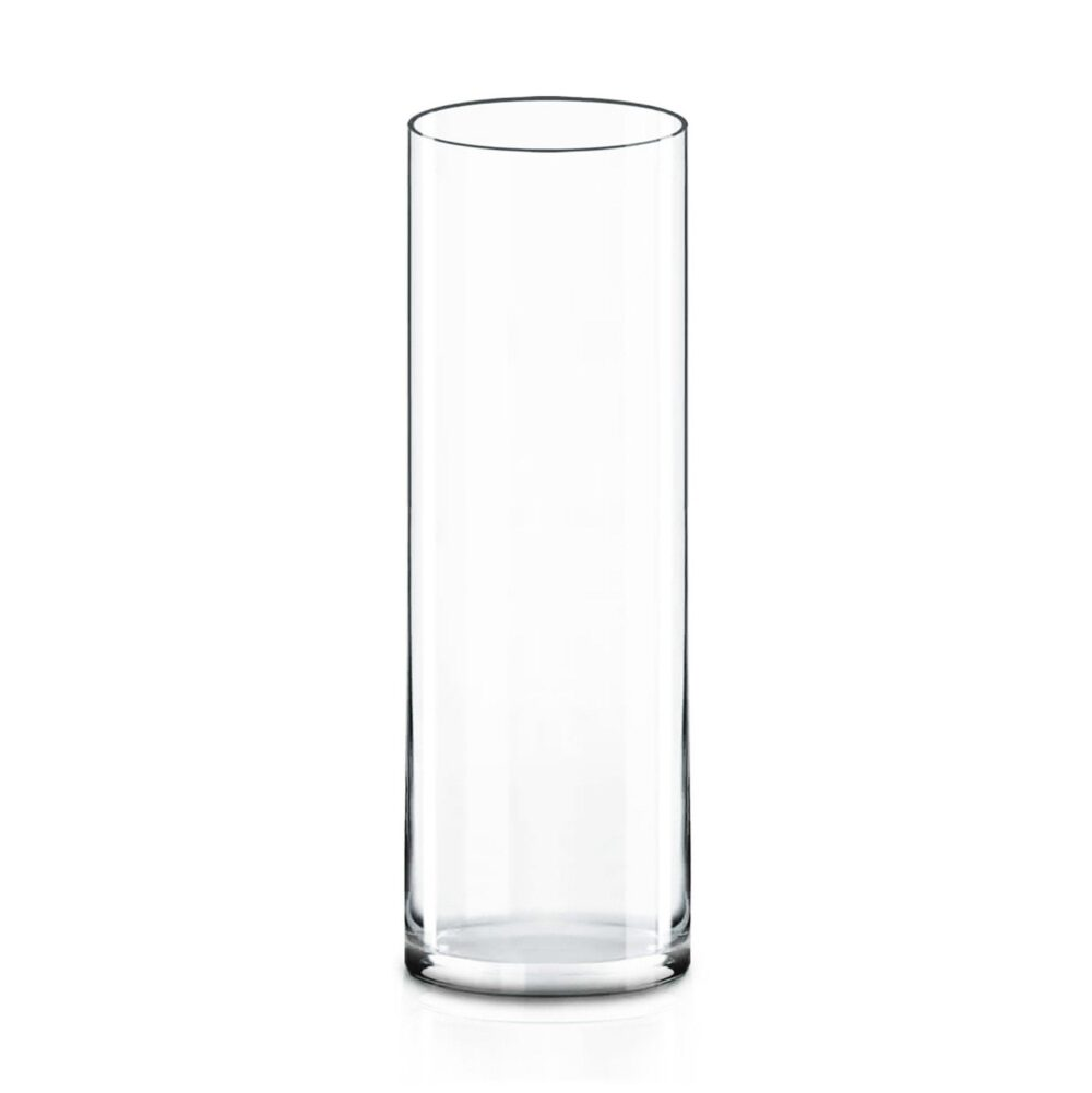 "Glass Cylinder Vase H-20"", D-6"" Hand Blown Vases Centerpieces Table Flower For Wedding Decoration Formal Dinner Floating Candles"