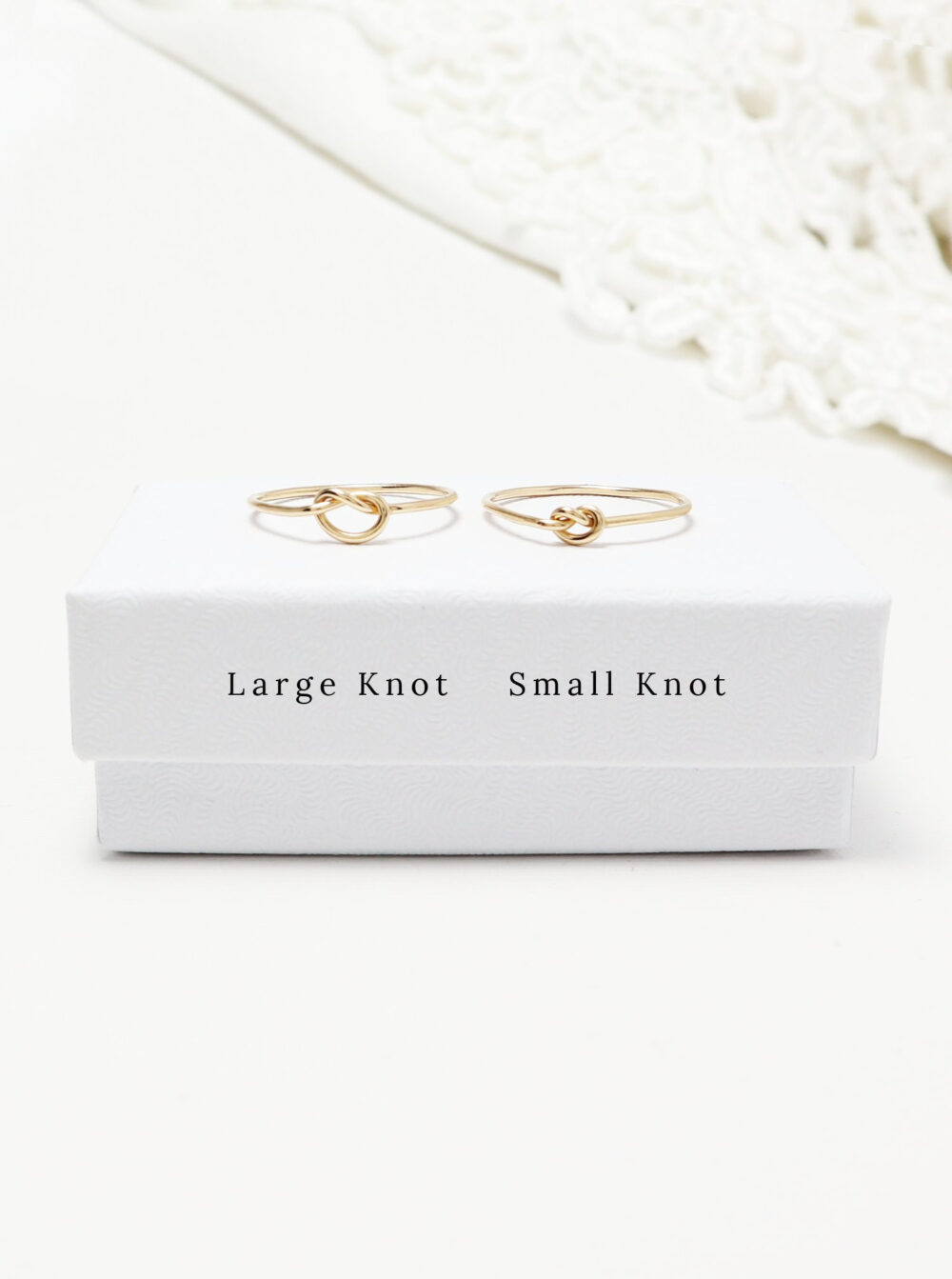 14K Solid Gold Super Thin Knot Ring, Dainty Promise Love Sister Mother Daughter Rings, Minimalist Fine Jewelry Gift Mom | Unity Rings