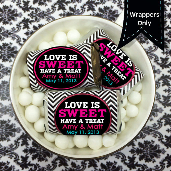Hershey's Miniatures Chocolate Wrappers - Miniature Hershey Wedding Decor Favors