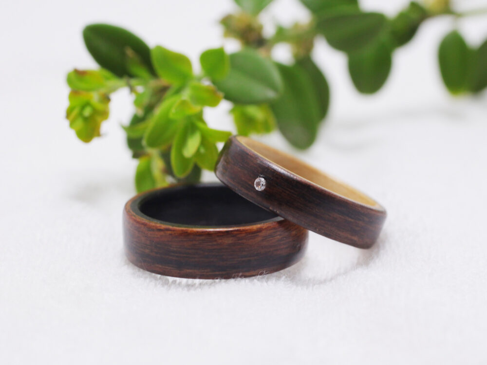 Wood Ring Set-Wood Wedding Band-Wood Ring-Wood Men-Wood Women-Wood Couples Ring-Anniversary Ring-Promise Rings For