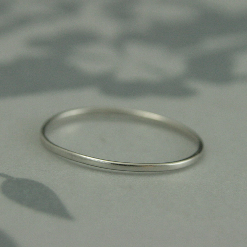 Thin Platinum Ring~Super Skinny Minnie~1mm By .5mm~Women's Ring~Women's Wedding Ring~Thin Band~Platinum Band