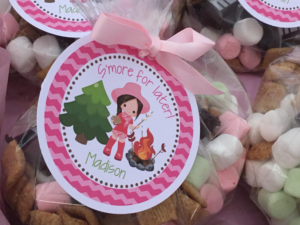 S'more Favor, Glamping Smore, Camping, Smore For Later, Tag, Camping Party, Birthday, Camp Out