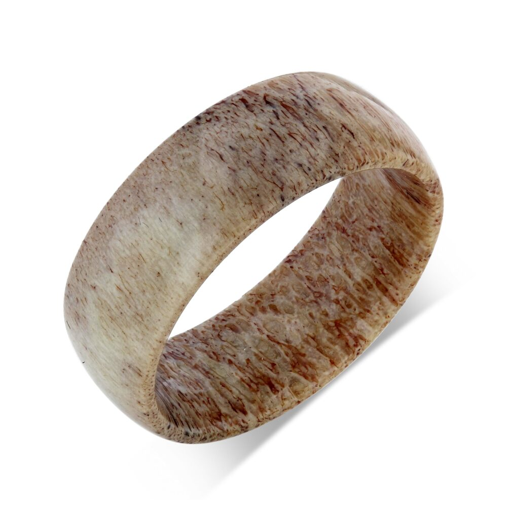 Deer Antler Ring Wedding Band Men & Women Mens Anniversary Hunter For Man 8mm