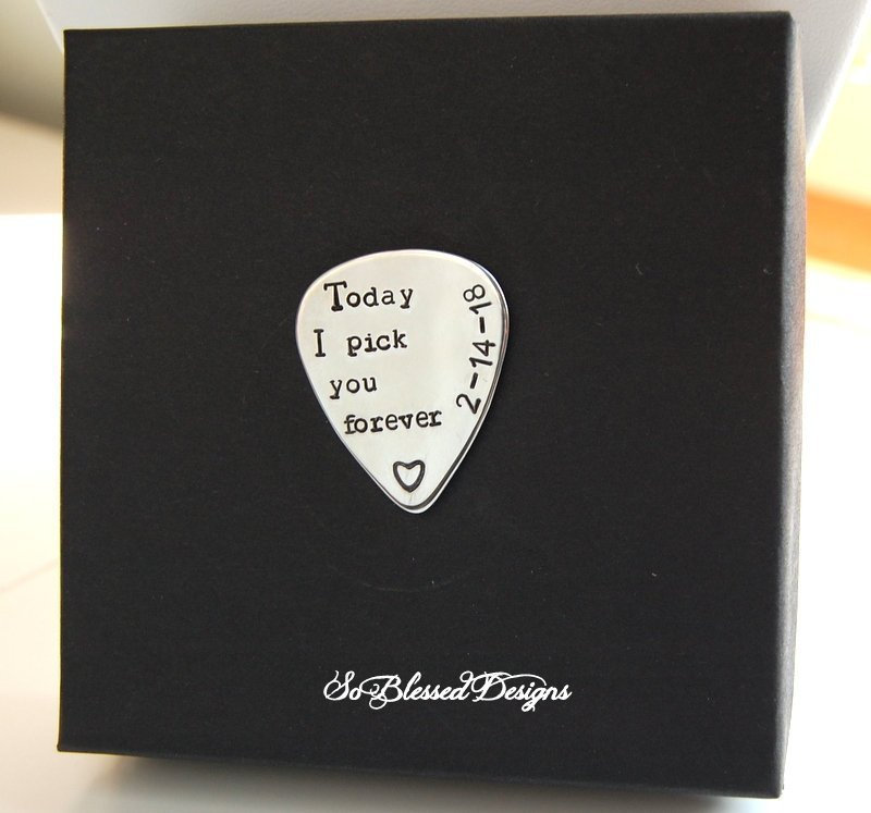 Groom Gift From Bride On Wedding Day, Personalized Guitar Pick For Groom, Wedding Gift To Groom Bride, Bride