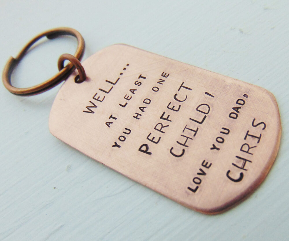 Father's Day Gift Funny, Keychain, Personalized Dad Child's To Dad, Funny Custom Gift, Day, Daddy, Pop