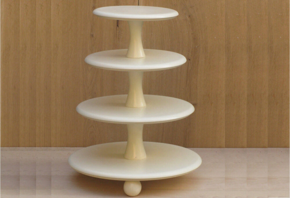 4 Tier Cupcake Stand 16-14-12-10 Inches, Wedding Stand, Cake Wood Dark Stain, Wedding, Tower