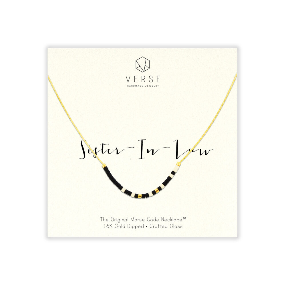 Sister in Law || Morse Necklace, Sister in Law Gift, Wedding Birthday Sister-In-Law Necklace