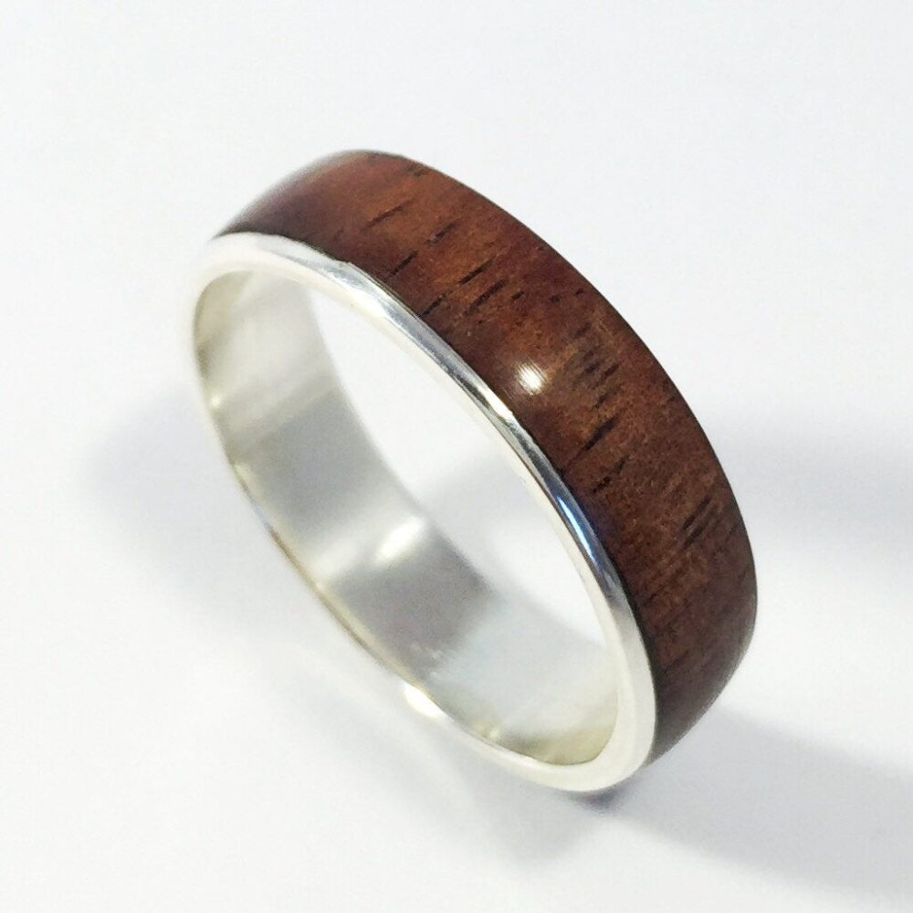 Mens Wood Wedding Band, Ring, Mens Wooden Womens Asymmetric Koa