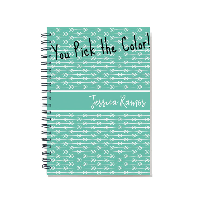 12 Month 2021 Weekly Planner, Start Any Month, 2021-2022 Agenda, Personalized Daily Calendar, Planner Book, Sku Pli Arrows2