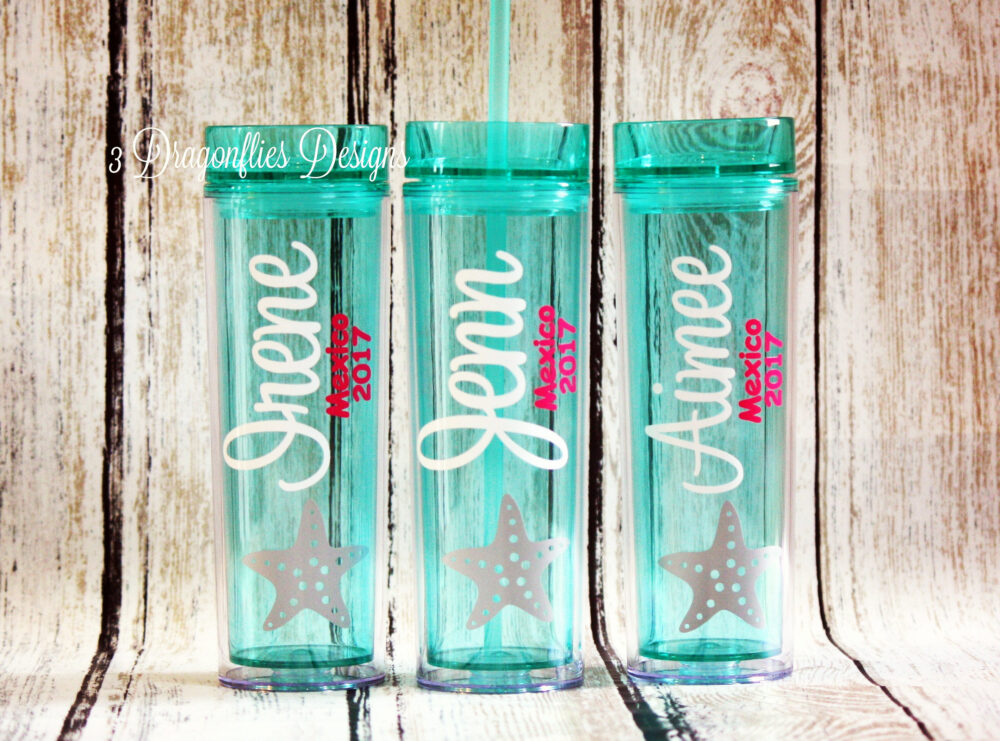 Beach Tumblers, Family Vacation Group Name Tumbler, Personalized Themed Girls Weekend