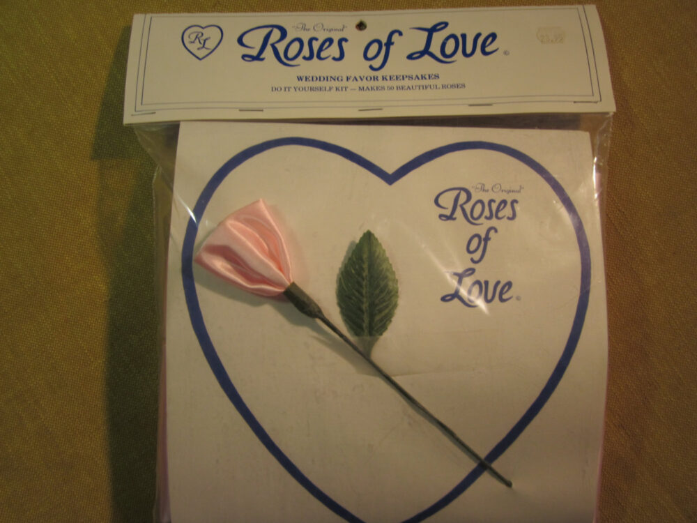 Roses Of Love, Wedding Favor Kit, 50 Make Yourself Roses, Light Pink, Made in Goldsboro Nc