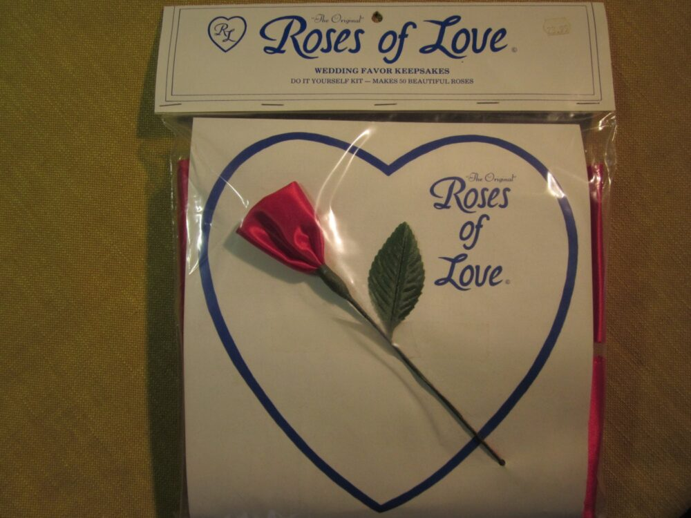 Roses Of Love, Wedding Favor Kit, 50 Make Yourself Roses, Red, Made in Goldsboro Nc