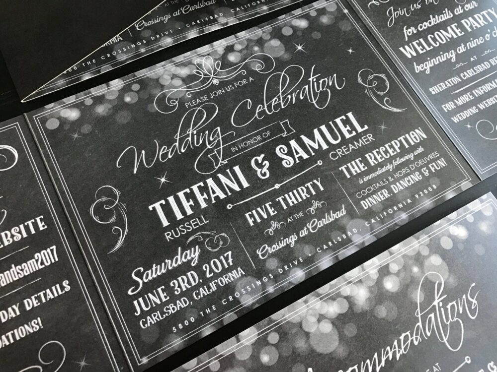 Custom Wedding Invitation | Fold Suite Invite & Postcard Rsvp Announcement To Your Colors