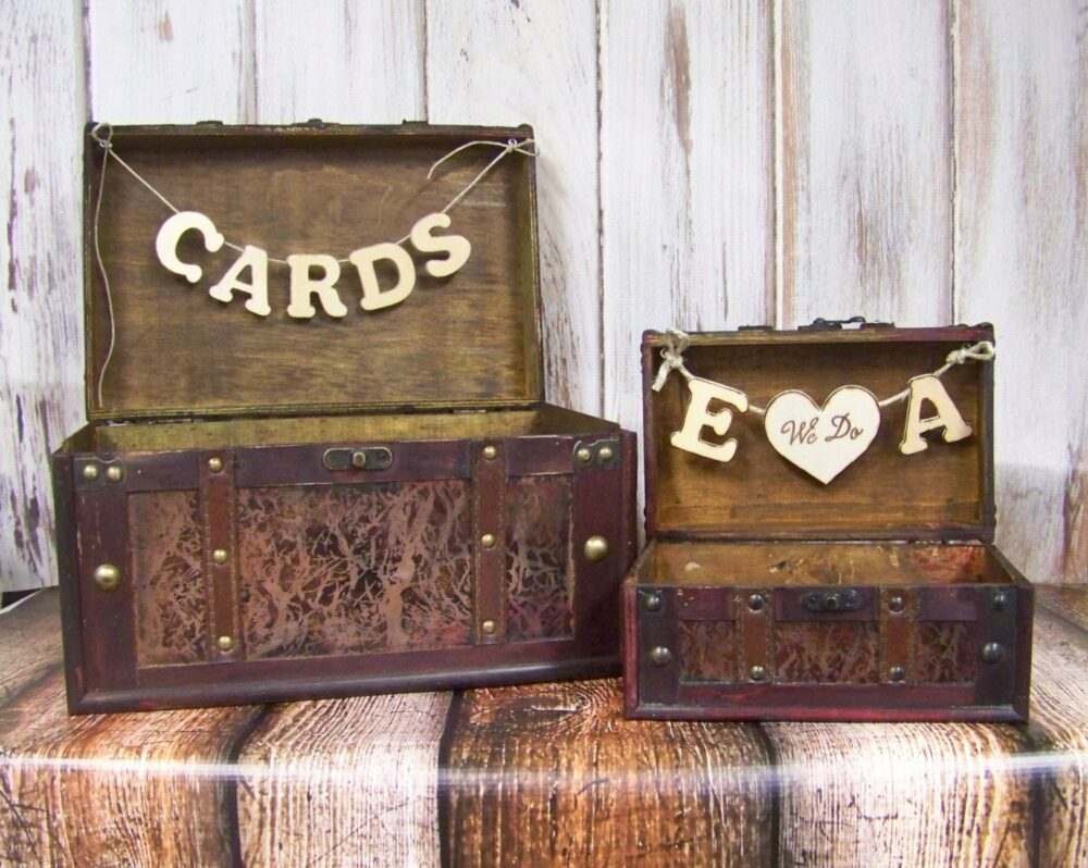 Wedding Card Box, Shabby Chic Advice Wedding, Brown Wooden Rustic Weddding