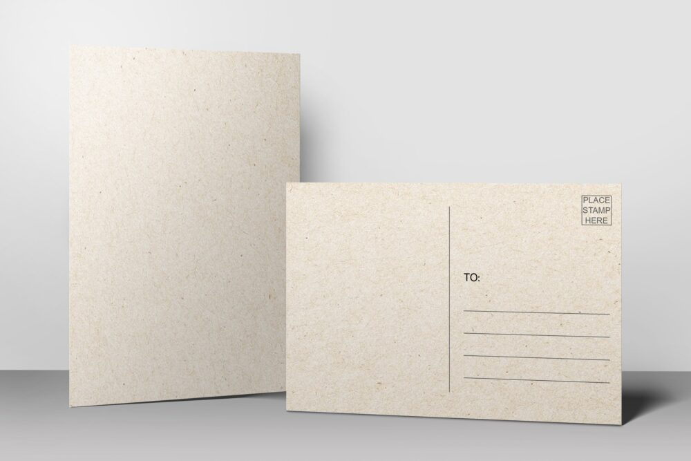 Blank Postcards - 4x6 Plain White Uncoated Card Stock, Create Your Own For Kids, Mailing Address Post Office Thick Heavy Duty Made in La