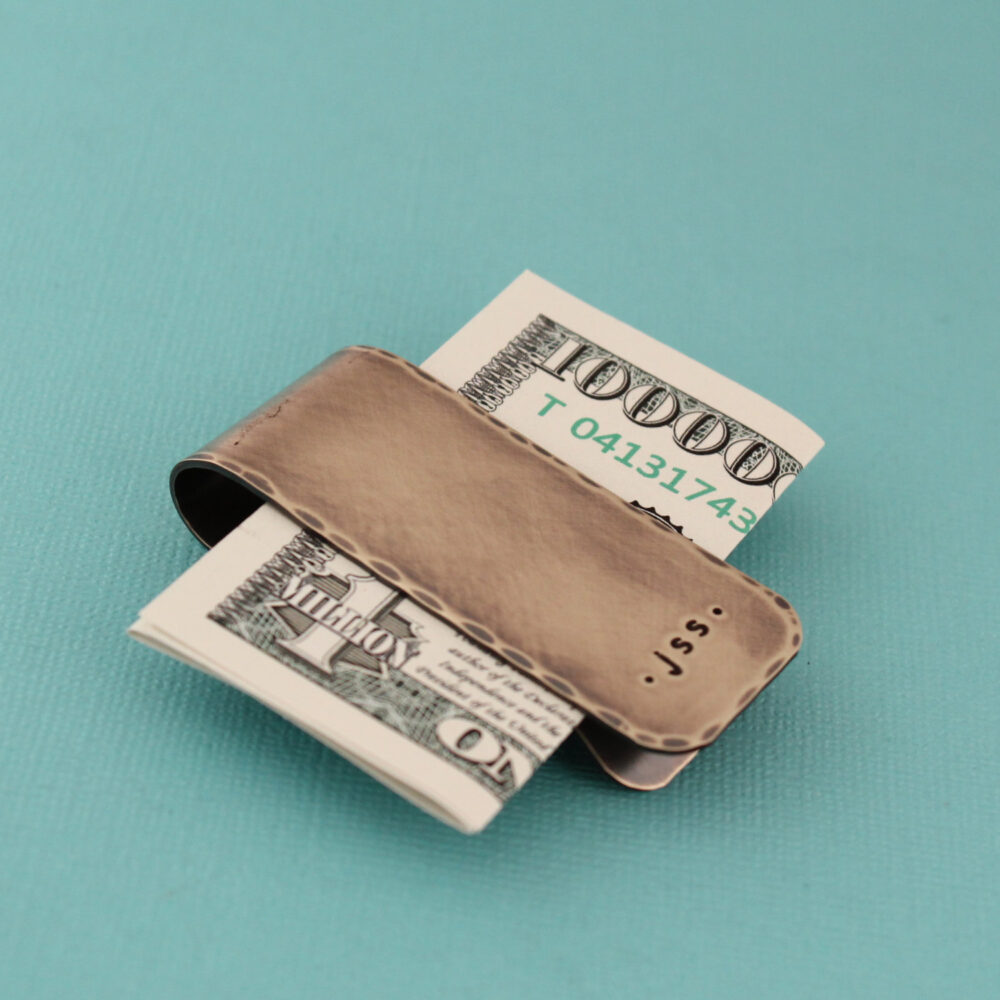 Personalized Money Clip, Monogram Gifts For Him, Father's Day Gift, Groomsmen Groom Dad