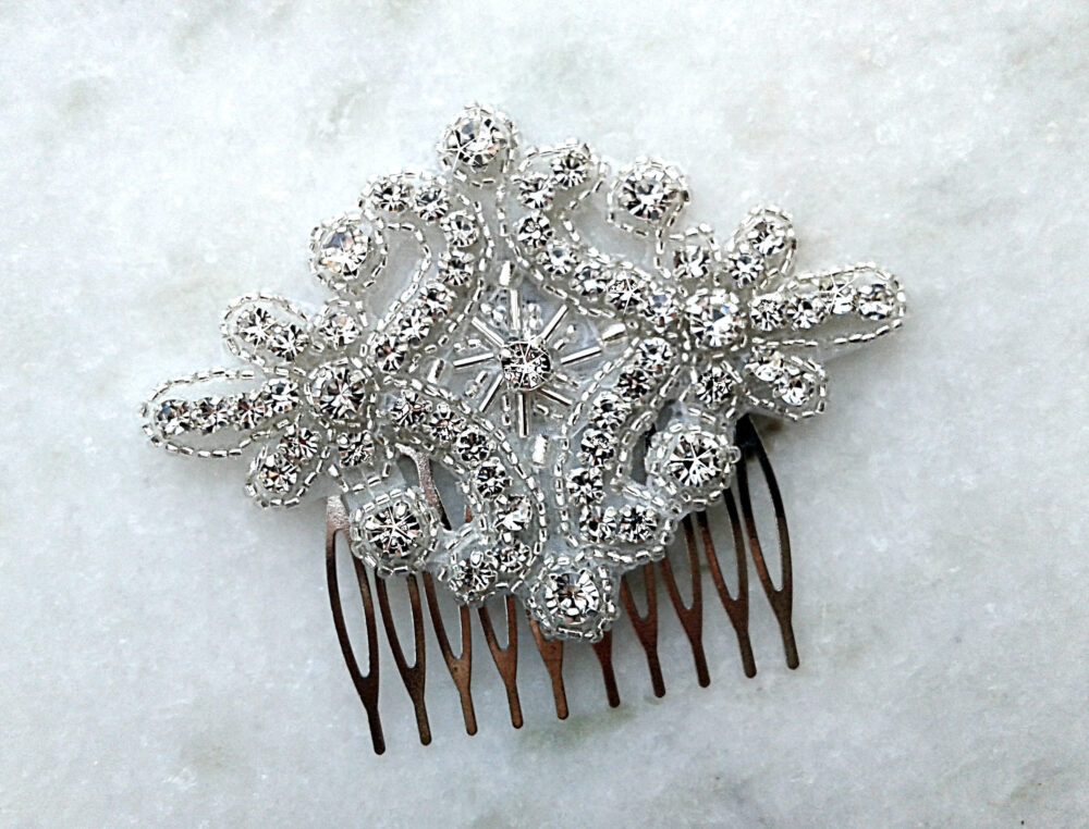 Crystal Rhinestone Hair Comb, Wedding Bridal Clip, Comb For Wedding, Bride Accessory, Headpiece